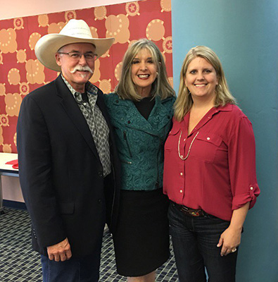 Hank Phillipi Ryan, Melissa Lendhardt, and Rev at a Sisters in Crime event in Frisco, TX