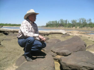 Rev doing research for the next book in the Red River series, less than a mile from the real Rock Hole.
