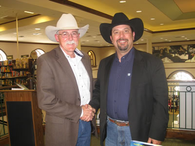 Reavis and C.J. Box, Edgar Award Winning Author, at his book signing in Dallas.